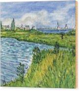 The Berkeley Island Pond Wood Print