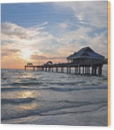 The Best Sunsets At Pier 60 Wood Print