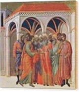 The Betrayal Of Judas 1311 Wood Print