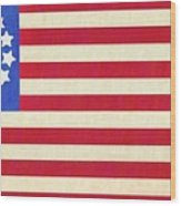 The Betsy Ross Flag Wood Print