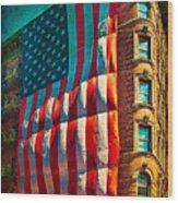 The Big Big Flag Wood Print