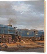 the Big Blue Engines  Wood Print