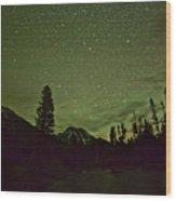 The Big Dipper Over Mount Moran Wood Print