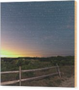 The Big Dipper Over The Lights Of Provincetown Ma Wood Print