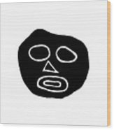 The Big Head Wood Print