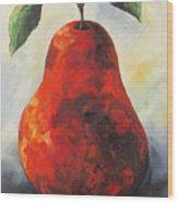 The Big Red Pear Wood Print