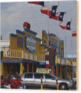 The Big Texan In Amarillo Wood Print