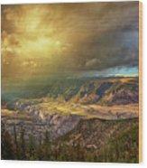 The Big Valley Wood Print