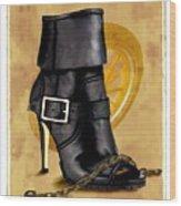 The Biker Boot Wood Print