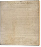 The Bill Of Rights. The First Ten Wood Print by Everett