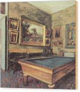 The Billiard Room At Menil-hubert Wood Print