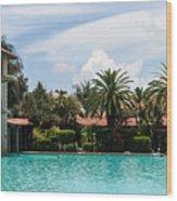 The Biltmore Pool Wood Print