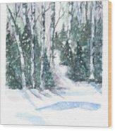 The Birch Trees Wood Print