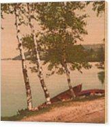 The Birches At Oak Birch Inn, Alton Bay, Lake Winnipesaukee, N. H.  Wood Print