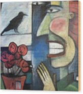 The Bird Watcher Wood Print