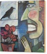 The Bird Watcher Wood Print
