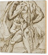 The Birth Of Bacchus From Jupiter's Thigh Wood Print