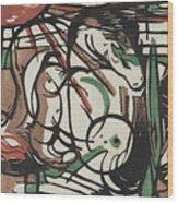 The Birth Of Horses  Geburt Der Pferde, 1913 Wood Print