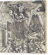The Birth Of The Virgin Wood Print