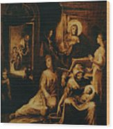 The Birth Of The Virgin Wood Print