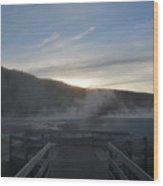 The Black Basin Wood Print