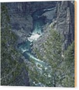 The Black Canyon Of The Gunnison Wood Print