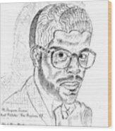 The Black Thinker Wood Print