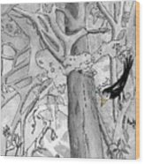 The Blackbird And The Worm Wood Print