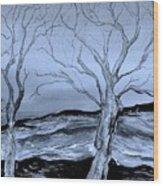 The Bleak Terrain  Wood Print