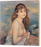 The Blonde Bather Wood Print