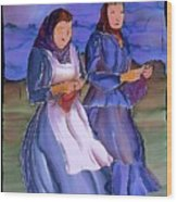 The Blowing Skirts Of Ladies Wood Print