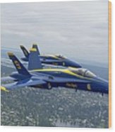 The Blue Angels Over Seattle Wood Print