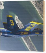 The Blue Angels Perform A Looping Wood Print