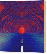 The Blue Avenue Wood Print