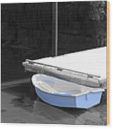The Blue Boat Wood Print