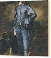 The Blue Boy Wood Print