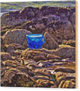 The Blue Bucket Wood Print