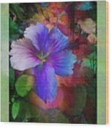 The Blue China Rose  Wood Print