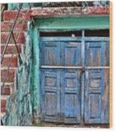 The Blue Door - India Wood Print