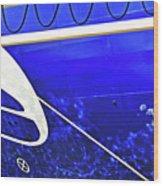 The Blue Ferry Wood Print