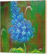 The Blue Flower Wood Print