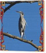The Blue Heron Claimed He Was Framed Wood Print