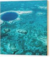 The Blue Hole Wood Print