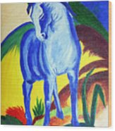 The Blue Horse Franc Marz Wood Print