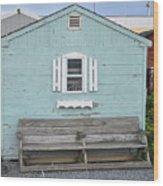 The Blue House Wood Print