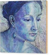 The Blue Jewel Wood Print