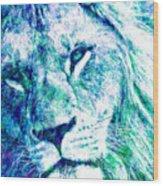 The Blue Lion Wood Print