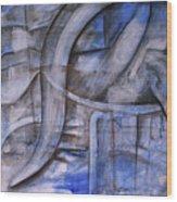 The Blue Machine Wood Print