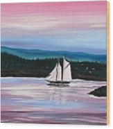 The Blue Nose II At Baddeck Nova Scotia Wood Print