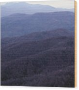 The Blue Ridge Wood Print